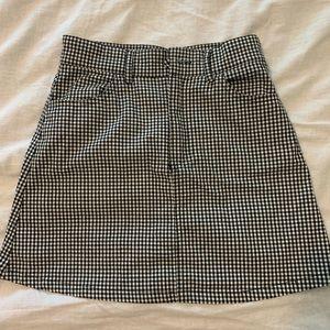 John Galt Gingham Mini Skirt